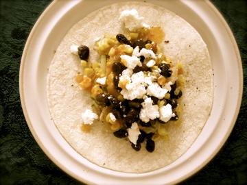 Quick Dinner: Charred Corn, Zucchini Slaw, Black Bean, and Feta Tacos ...