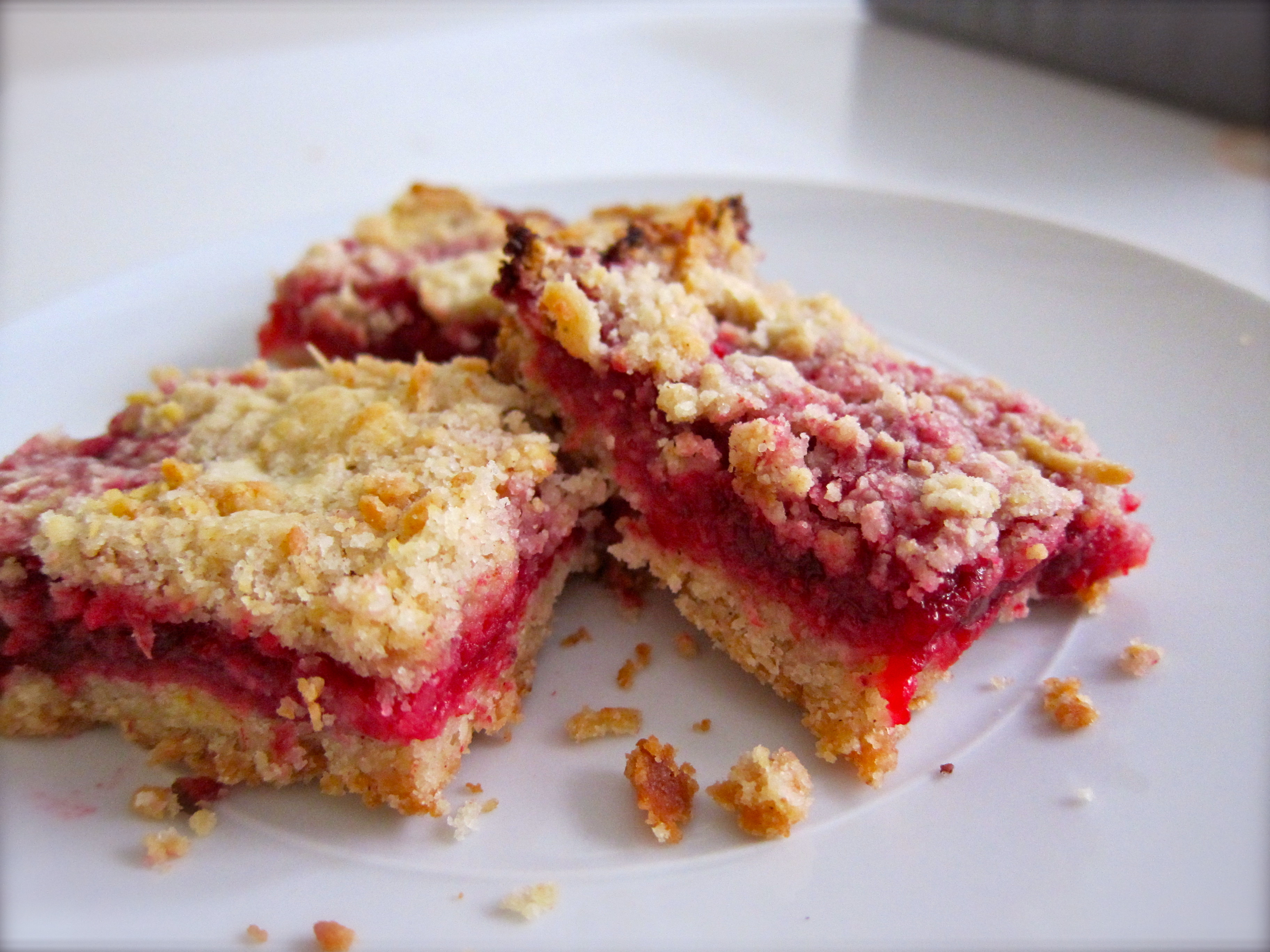 Smitten Kitchen's Cranberry Crumb Bars | Figsinmybelly