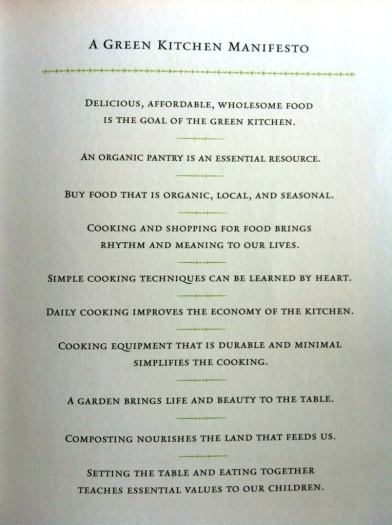 green kitchen manifesto