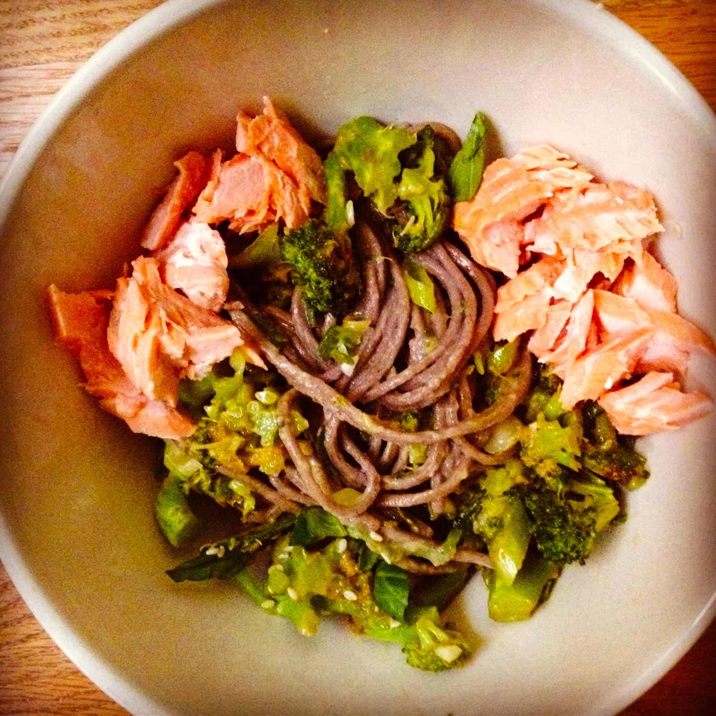 Soba Bowls with Tea-Poached Salmon | Figsinmybelly