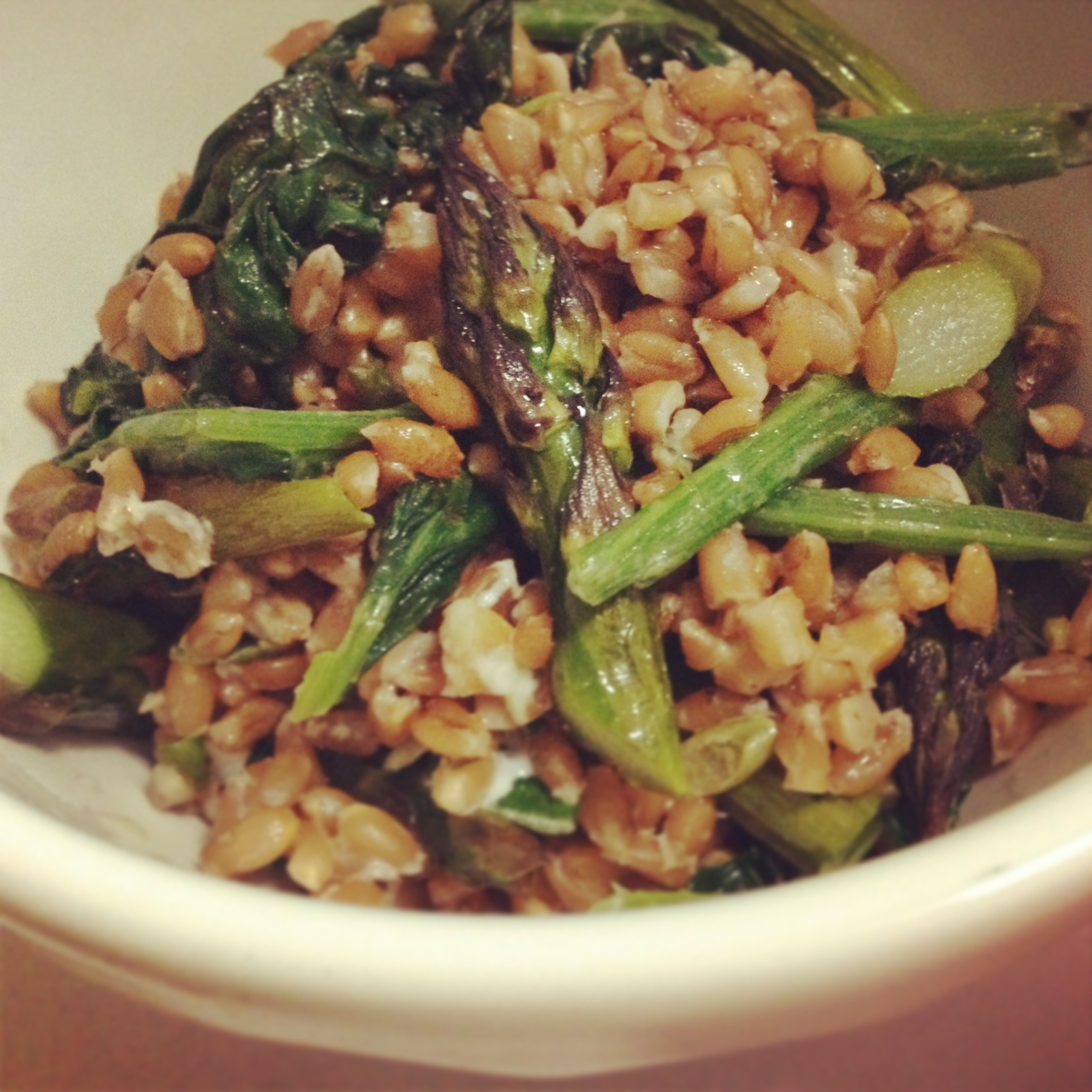 Roasted Asparagus And Red Pepper Farro Salad Recipes — Dishmaps