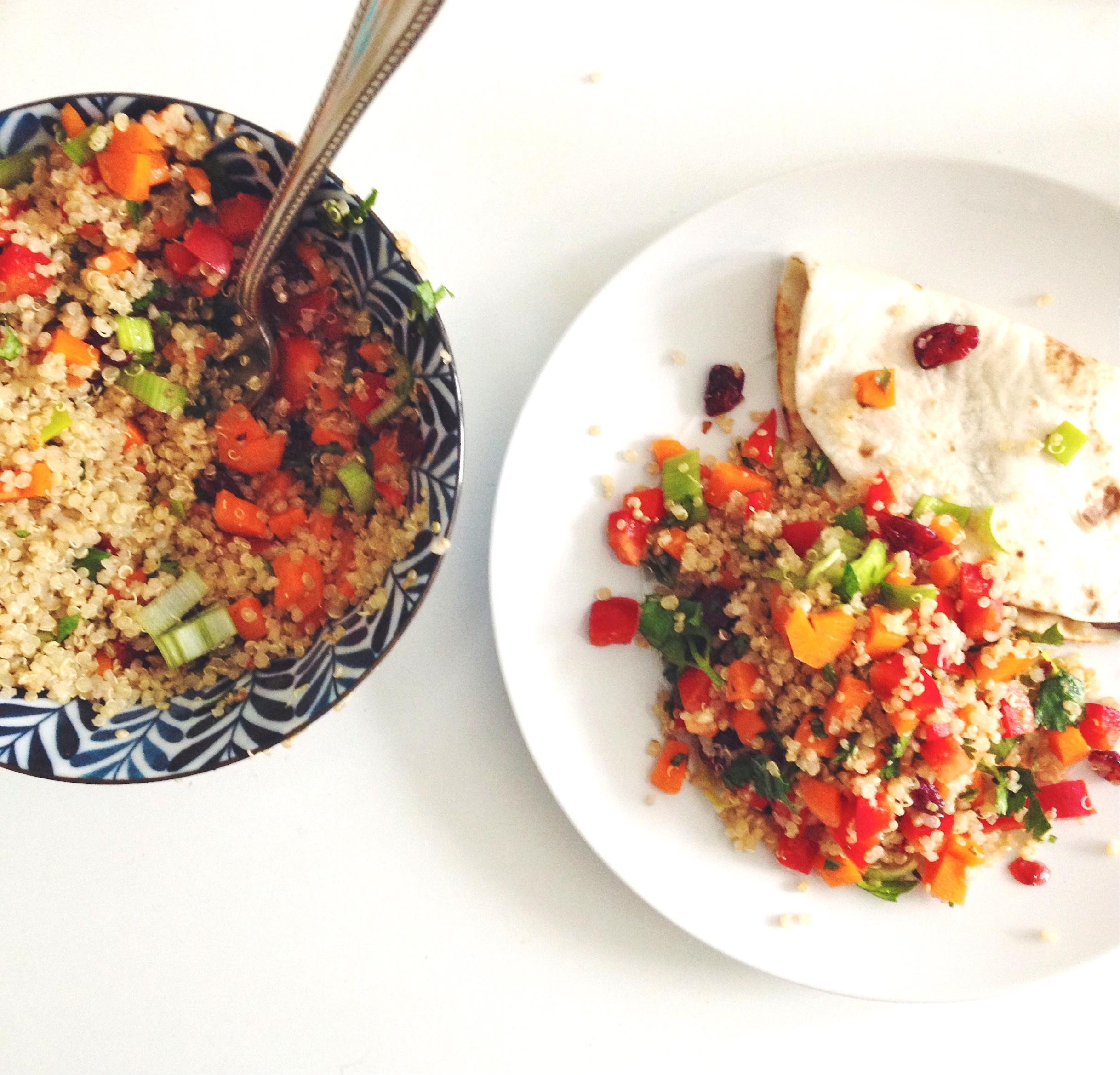 Cranberry and Cilantro Quinoa Salad | Figsinmybelly